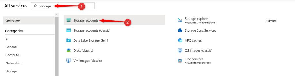 Create storage accounts