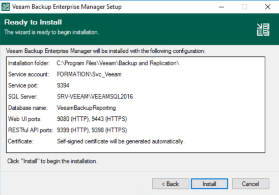 Launch Veeam Installation