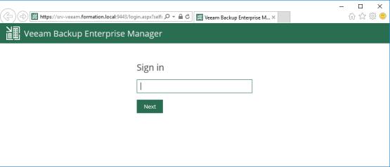 Self-Service File Restore Portal - Open Veeam Backup Self Service portal