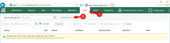 Self-Service File Restore Portal - Open Veeam Backup Self Service portal