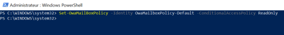 Secure data on O365 - Configure OWA Mailbox Policy