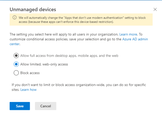 Configure Limited access on Sharepoint