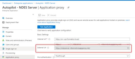 Add external address on the certificate