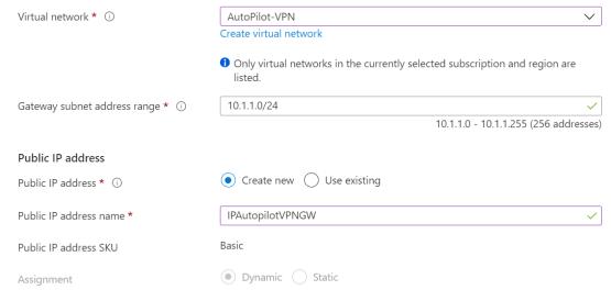 Configure Virtual Network