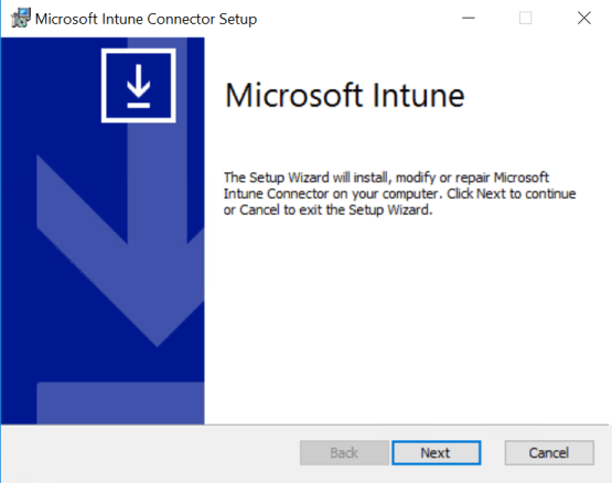 Install connector intune