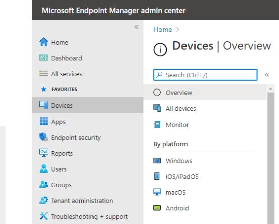 Select Windows device