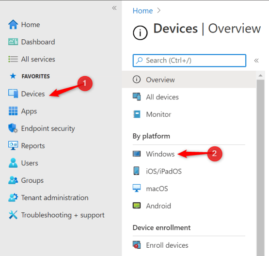 Configure Windows devices