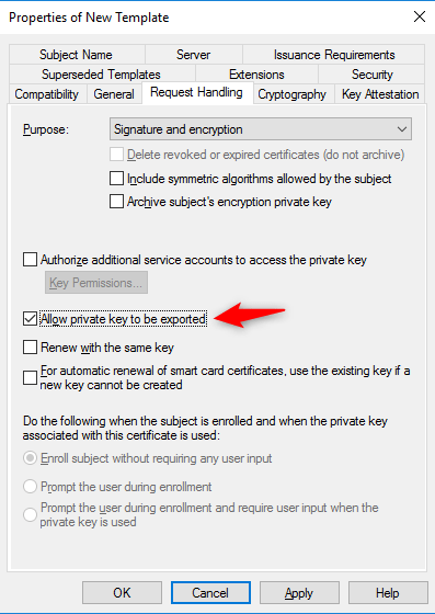 Allow export private key