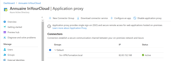 application proxy is now active