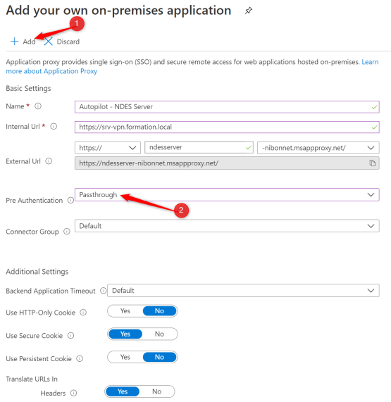 Configure pre authentification method