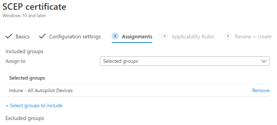 Configure Groups assignment