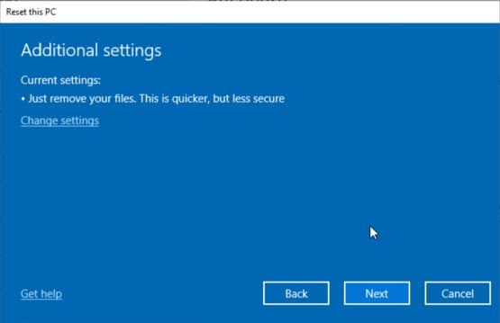 Remove All file on Windows 10 computer