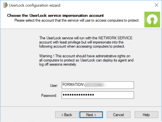 Configure account for impersonation