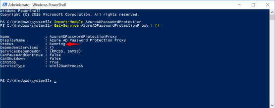 Azure AD Password Protection - Test the service state
