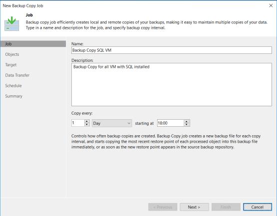 Backup copy - Enter desired name