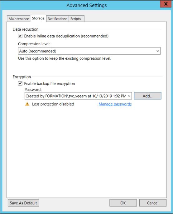 Configure encryption