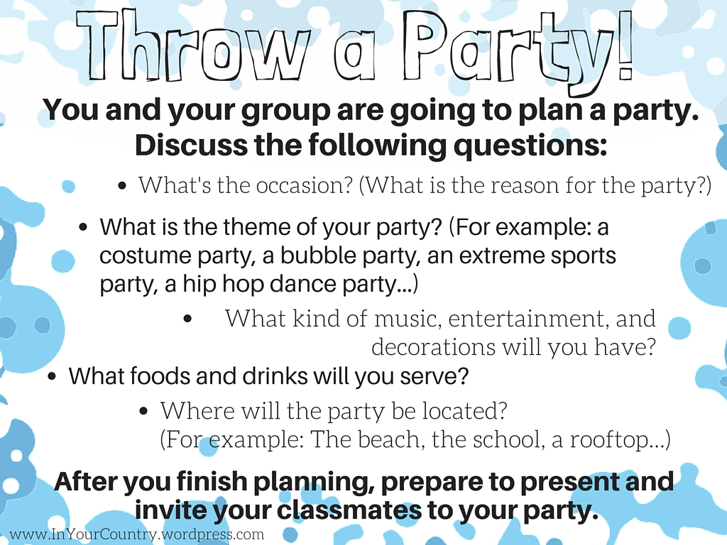 Throw A Party Create It 4 In Your Country