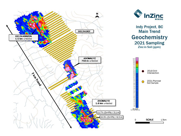 Indy Project, BC Main Trend Geochemistry 2021 Sampling