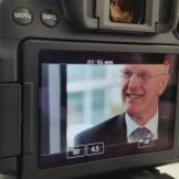 Beim Dreh mit Sirona in Bensheim musste uns CEO Michaell Geil Rede und Antwort stehen