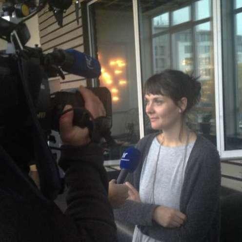 Filmemacherin Alicia-Eva Rost im Interview mit dem hessischen Rundfunk