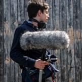 Tonaufnahmen für einen Filmdreh von InZwischenZeit:Filme