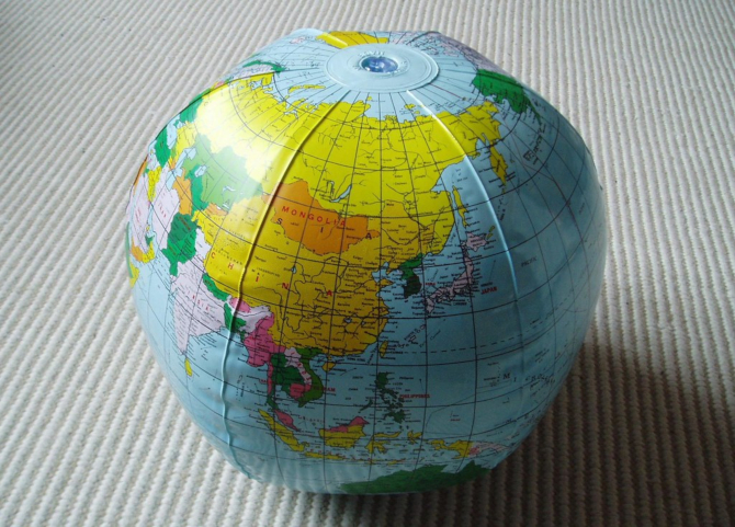 globe gonflable