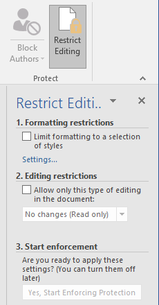 How to Create Professional Reports and Documents in Microsoft Word Restrict Editing