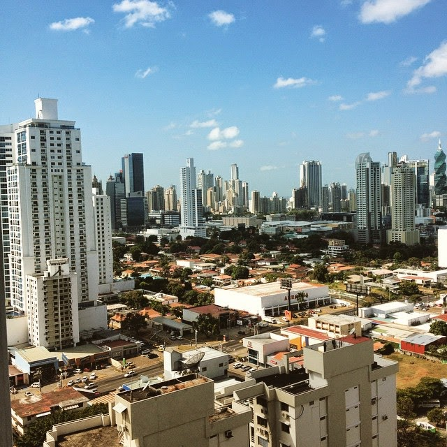 Panama City, seen from the apartment I stayed in