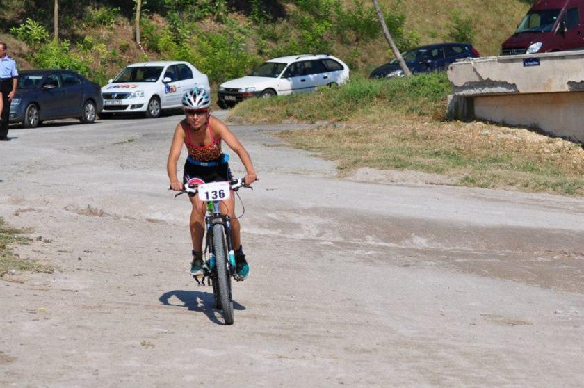 Finalul traseului de bike