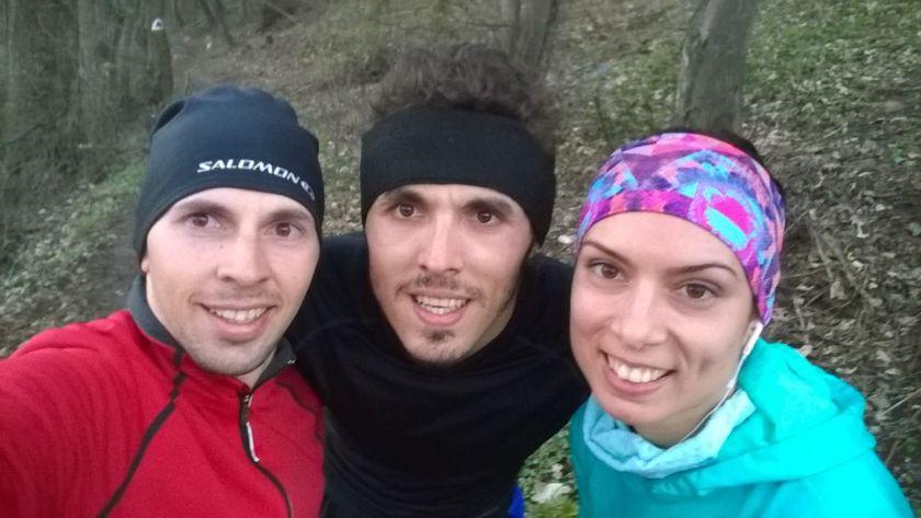Bonus la alergarile prin Brasov: te intalnesti cu prietenii, si ei in antrenamente pt Ironman. Multa bafta, Mitza! :)