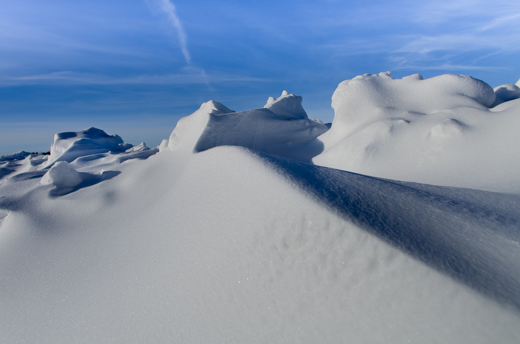 Snow drifts in Rural Alberta