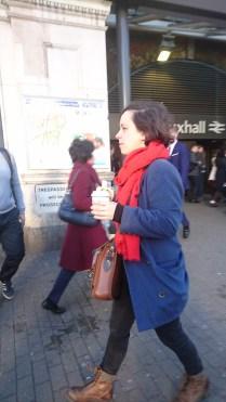 8:17am 31st March, Vauxhall station - Banana muncher