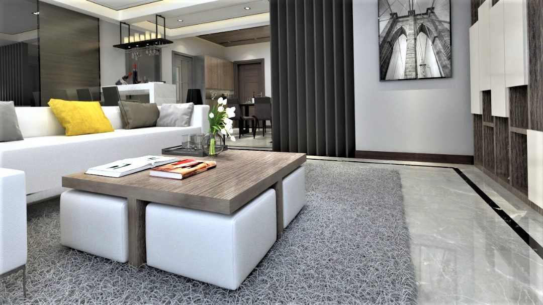 coffee table with four ottomans plus 4 io furniture