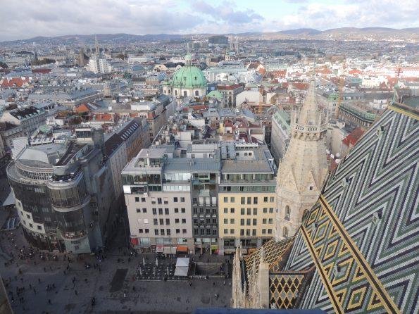 La vista su Vienna dalla Torre gugliata di Stephansdom
