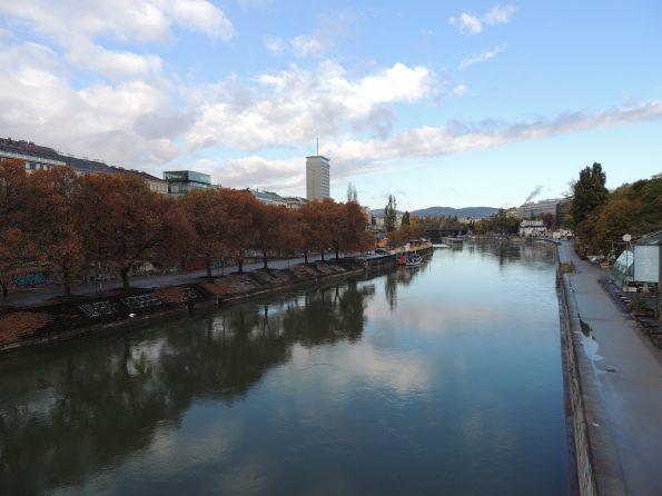 Il Donaukanal, il canale artificiale che lambisce il centro di Vienna