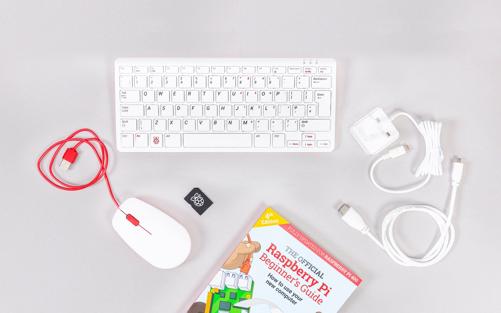 Raspberry Pi 400 Computer Kit is a PC built into a compact keyboard