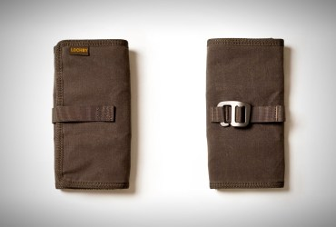 LOCHBY Tool Roll is a rugged vegan tarpaulin case for pens and other tools