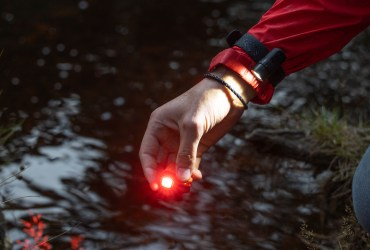 ALVA is a hands-free LED flashlight compatible with the GoPro universal mount