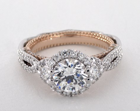 Verragio Venetian Engagement Ring 14K White Gold And