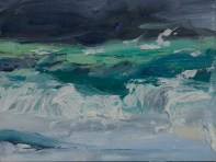Dark Sky, Iona, Oil On Board A Critchlow