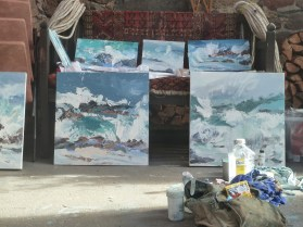 Paintings Drying In The Studio