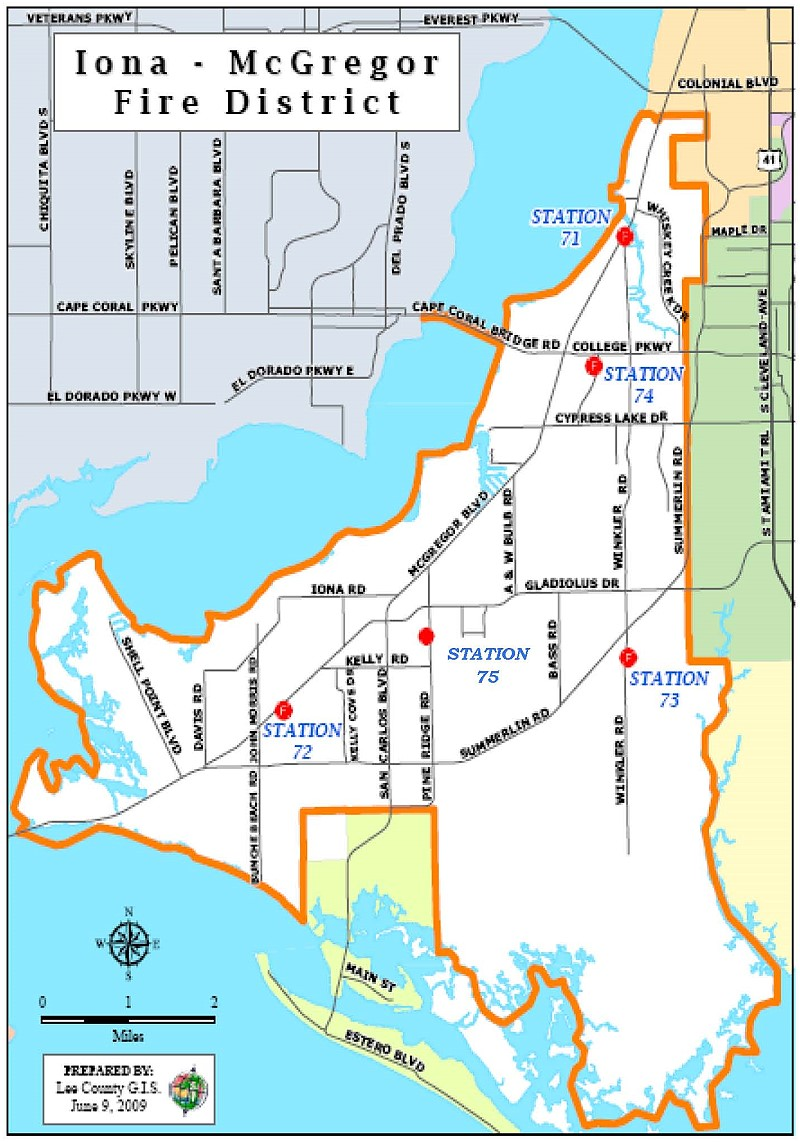 Iona - McGregor Fire District Map