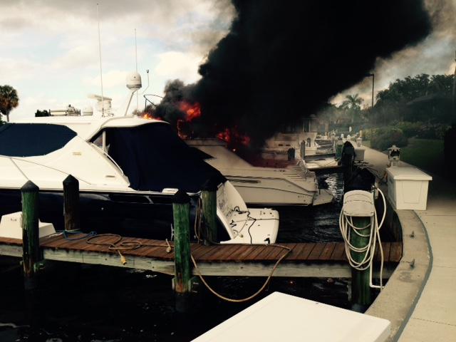 Picture of a Boat Fire