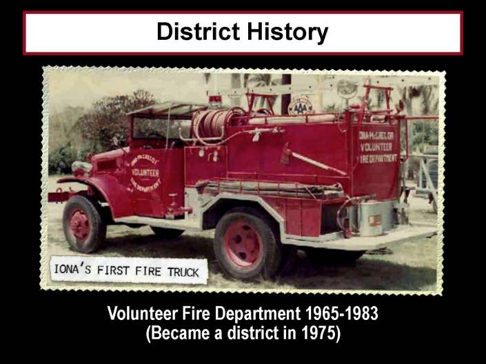 District History: Iona's First Fire Truck