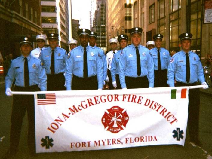 Iona McGregor Fire District Marching at a 9 11 Memorial