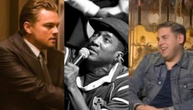 Leonardo DiCaprio, Q-Tip, Jonah Hill Split screen