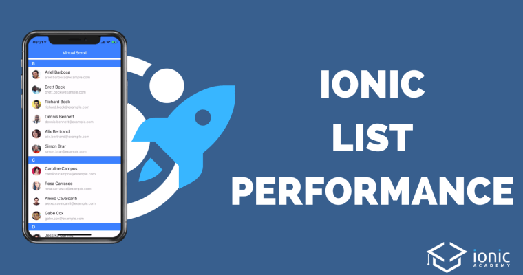 Faster List Performance with Ionic Virtual Scroll & Infinite