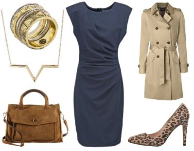 5. How To Wear Navy To Work: Navy + Sophisticated Beige