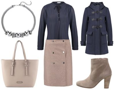 4. How To Wear Navy To Work: Navy + Elegant Taupe