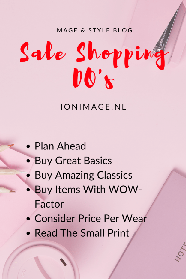 Sale Shopping DO's by Personal Shopper Jenni at I on Image